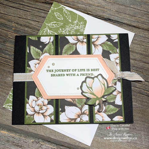 Learn How to Make a 3 Panel Card with Magnolia Lane DSP and Stitched Nested Dies