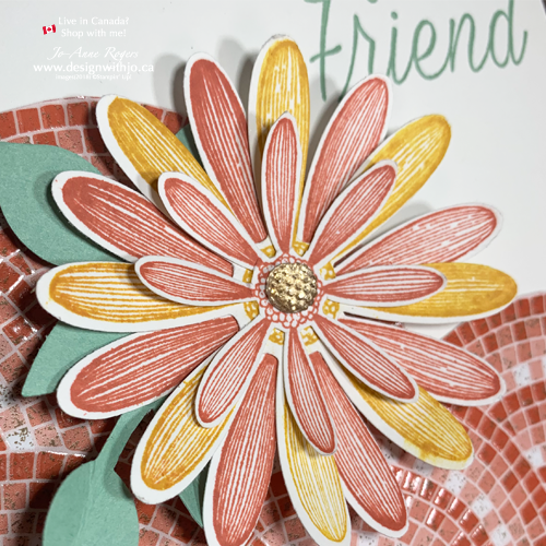 How to Make a Tri Fold Greeting Card with Daisy Lane Punches from Stampin' Up!