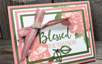{Live Video} Three Step Stamping and a Triple Panel Card