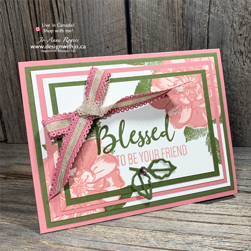 VIDEO Tutorial: To a Wild Rose Three Step Stamping and a Triple Panel Card