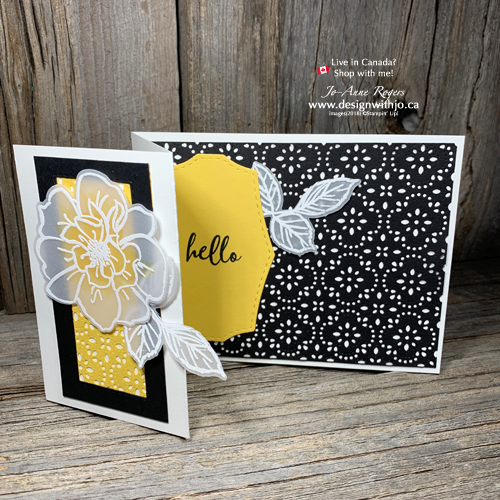 Learn to Make this Design with my Jo-Tips for Stitched Lace Die Cardmaking