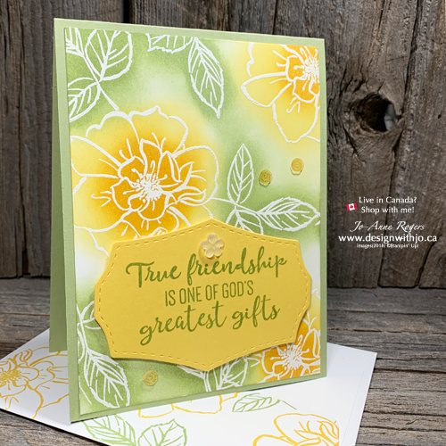 To a Wild Rose Emboss Resist Stamping Backgrounds are Easy to Make