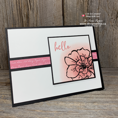 To a Wild Rose Embossed Resist Stamping Background