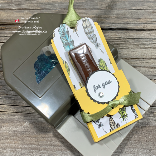 Delightful Tag Topper Merci Chocolate Treat Holder