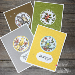 Easy Card Making with Circle Punches and DSP from Stampin Up