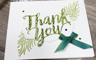 Using Word Dies for Handmade Greeting Cards