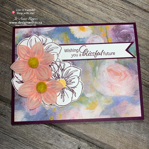 So SIMPLE Vellum Stamp Layering on Handmade Wedding Cards