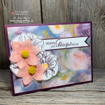Combine punches, stamping and DSP in this Vellum Stamp Layering on Handmade Wedding Cards