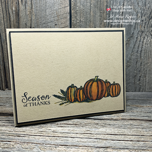 Such a SIMPLE Card with Come to Gather and Getting Started with Stampin Blends