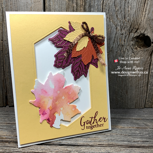 I LOVE Fall Card Making Ideas with Watercolor and Stencils and Come to Gather