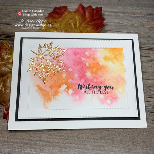 VIDEO Step by Step: Fall Card Making Ideas with Watercolor and Stencils