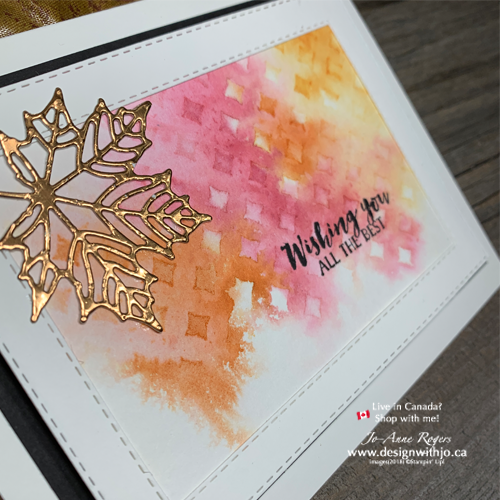 Learn Fall Card Making Ideas with Watercolor and Stencils with Stampin Up Product