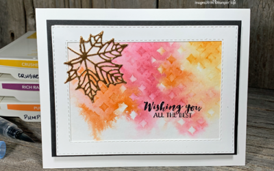 {VIDEO} Fall Card Making Ideas using Watercolor and Stencils