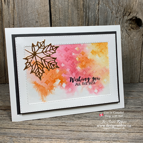 Interactive VIDEO for Fall Card Making Ideas with Watercolor and Stencils