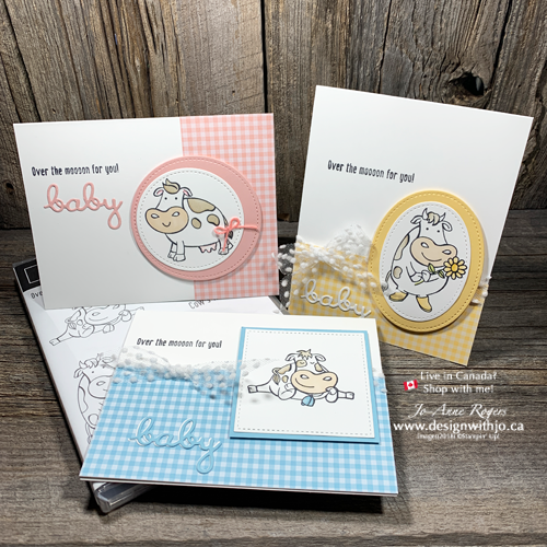 How CUTE are these Handmade Cards for New Baby made with Over the Moon?