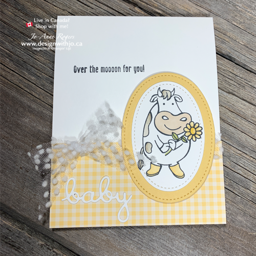 Use Your Stampin' BLENDS and Over the Moon for Handmade Cards for New Baby