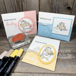 Adorably SWEET 3 Different Designs for Handmade Cards for New Baby and Over the Moon with Stampin