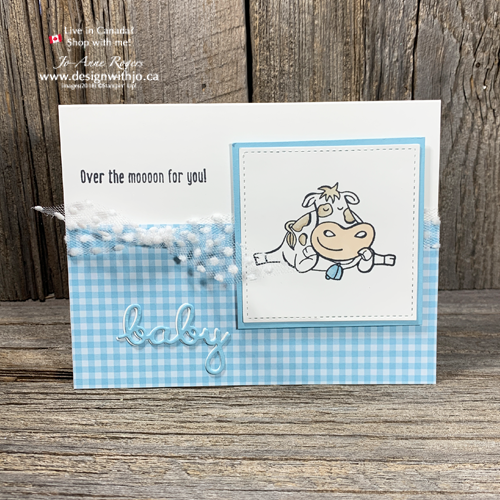 ADORABLE Handmade Cards for New Baby using Over the Moon!