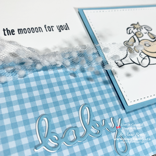 How CUTE Are These Handmade Cards for New Baby with Over the Moon and Word Wishes Dies?