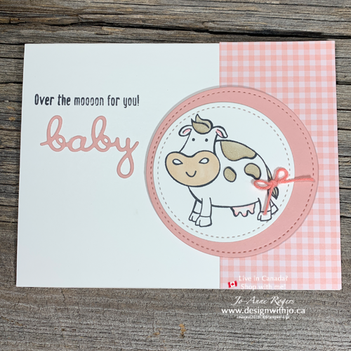 Oh So SIMPLE Handmade Cards for New Baby with Stampin' Up!'s Over the Moon and Stampin' Blends