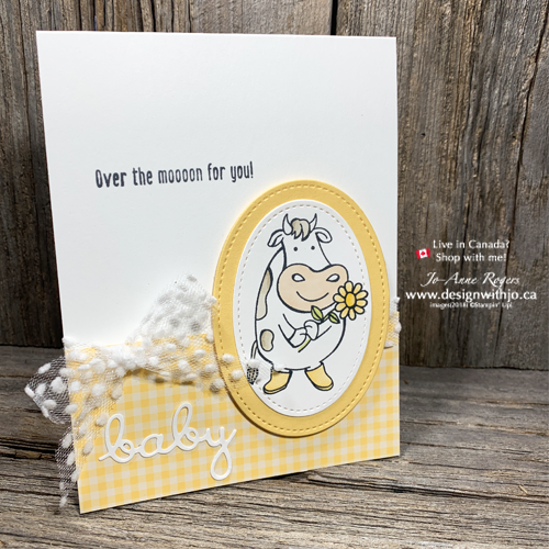 So SWEET and Easy Handmade Cards for New Baby with Over the Moon stamps and Word Wishes dies