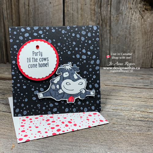 See How to Fussy Cut an Easy Birthday Card using Over the Moon and your Stampin' Blends