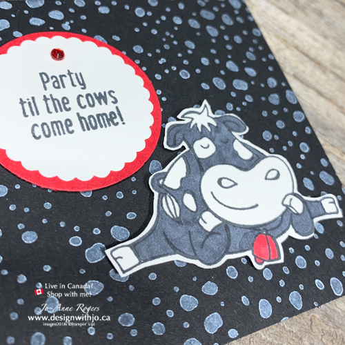Wanna Know How to Fussy Cut an Easy Birthday Card made with Over the Moon and Stampin' Blends?