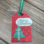 Get All the Steps for this Christmas Pine Tree Punch Gift Tag