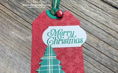 {FREE PDF} Christmas Pine Tree Punch Gift Tag