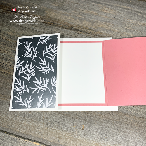 Look Inside this Double Fold Embossed Vellum for Quick Card Making