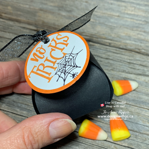 Fast & Fun Mini Curvy Keepsake Halloween Treat Box from Stampin Up and Everything Festive Stamps