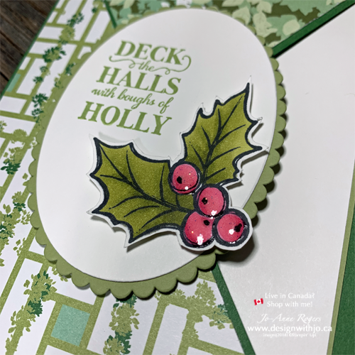 Beautiful Diagonal Crossover Fold Card for Christmas Made with NON-Holiday Paper! Yes, It Is Possible!