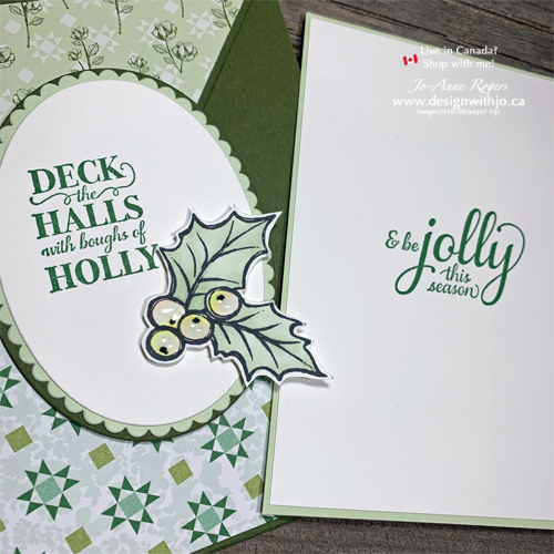 Pull Out Your Patterned Papers for a Diagonal Crossover Fold Card for Christmas