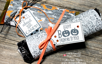 Make Fast Wrapped Candy Bar Halloween Treatholders
