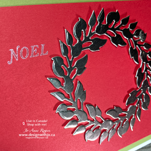 Let Me Show You How to Make a Wreath Greeting Card Quick and Easy