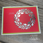 Super Quick How to Make a Wreath Greeting Card