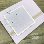 Even Though Stampin Up! Purple Posy Ink Pad Discontinued: Die Cut Snowflake Card Is Fabulous