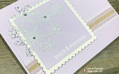 Purple Posy Ink Pad Discontinued and a Die Cut Snowflake Card