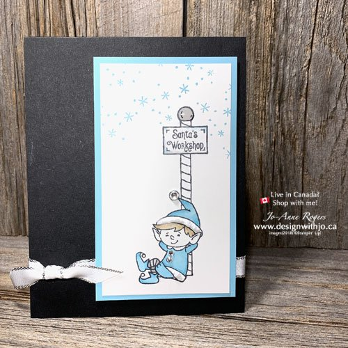 Learn to Make This Simple Holiday Greeting Card with Alcohol Markers