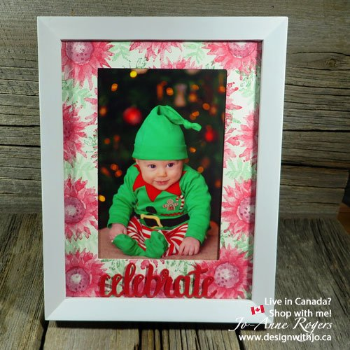 Time to Try Christmas Card Crafting from Leftovers Like a Piece of this Painted Harvest Frame