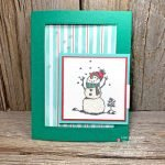 I LOVE this cute snowman Christmas card made with the Snowman Season stamps from Stampin