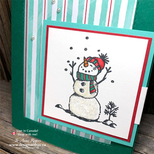 The Snowman Season bundle makes such a cute snowman Christmas card!