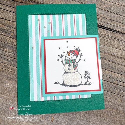 I LOVE this cute snowman Christmas card made with the Let It Snow Suite!