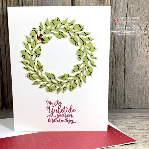 You Won't Believe How Easy Christmas Card Using DSP Is with my Quick VIDEO and the All Around Wreath Dies