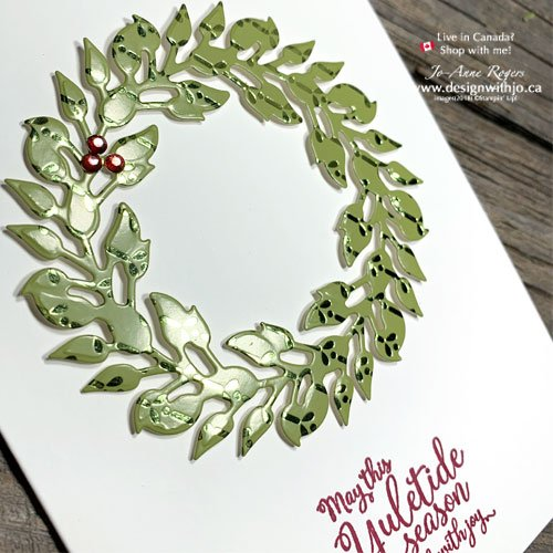 VIDEO Tutorial for this Beautiful and Quick & Easy Christmas Card Using DSP
