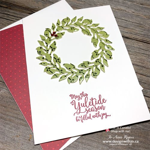 Make It In Minutes Easy Christmas Card Using DSP and All Around Wreath Dies