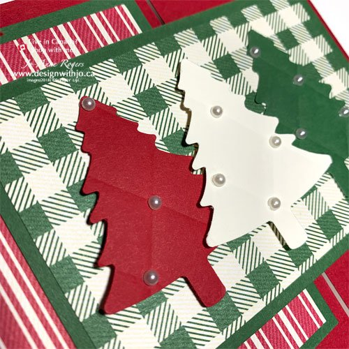 ADORABLE Flap Fold Card Christmas Tree Card using the Pine Tree Punch from Stampin Up!