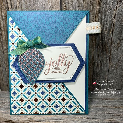 Want to know how to make a diagonal crossover fun fold card just like this?