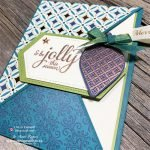 See exactly HOW to make a diagonal crossover fun fold card with beautiful Brightly Gleaming designer series paper
