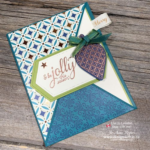 Learn how to make a diagonal crossover fun fold card with the Brightly Gleaming suite of products from Stampin Up! in my live video replay